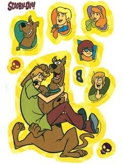 Adesivi murali Scooby Doo 38pz