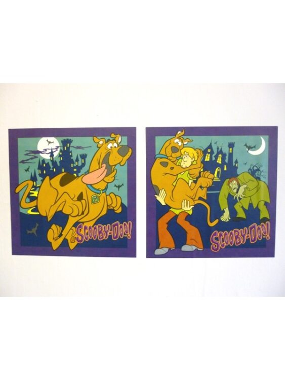 Adesivi murali Scooby Doo 2pz