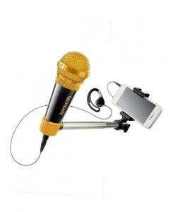 SelfieMic Selfie Stick con microfono e auricolare