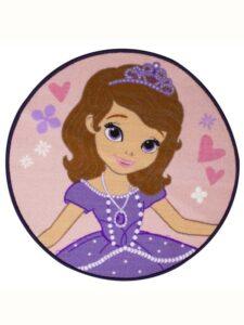 Tappeto rotondo Sofia la Principessa