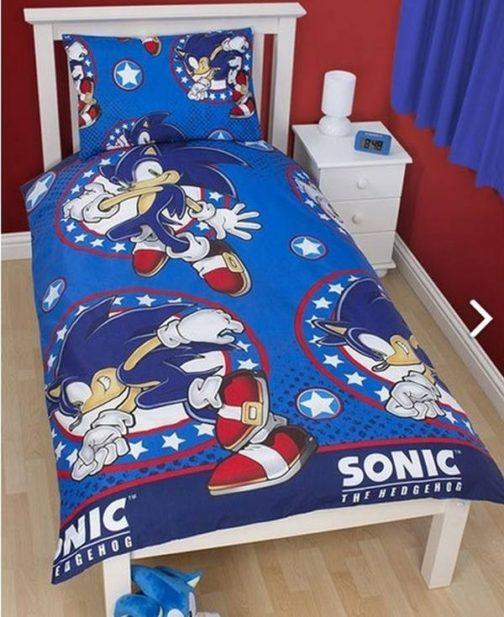 "Parure copripiumino singolo Sonic The Hedgehog ""Sprint"""
