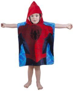 Accappatoio poncho con cappuccio Spiderman City