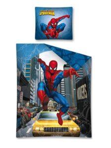 Parure copripiumino singola Spiderman New York Taxi