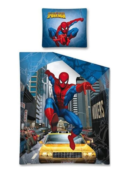 Parure copripiumino singola Spiderman New York Taxi