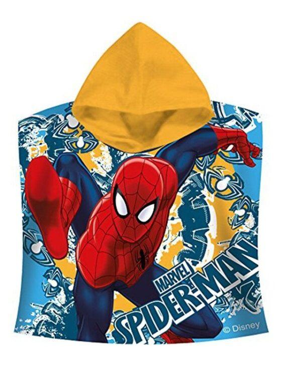 Accappatoio poncho con cappuccio Spiderman