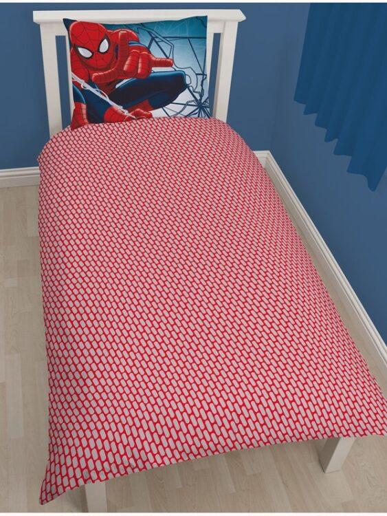 Parure copripiumino singolo Spiderman Wall Crawler