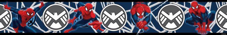 Bordo adesivo per cameretta Spiderman Blue