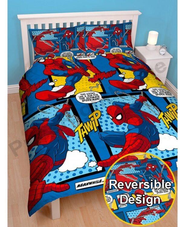 Parure copripiumino piazza e mezza/matrimoniale Spiderman Webhead