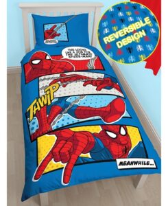 Parure copripiumino singolo Spiderman Webhead