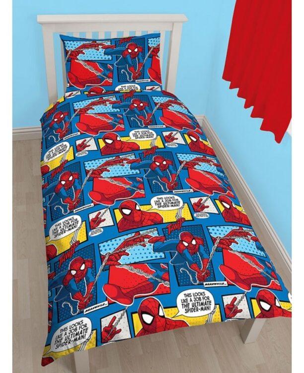 Parure copripiumino singolo Spiderman Comics