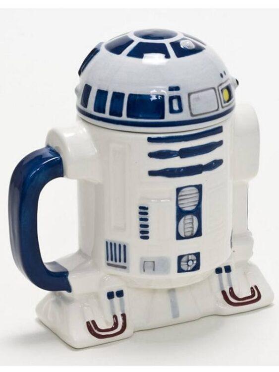 Tazza Mug sagomata R2-D2 con coperchio
