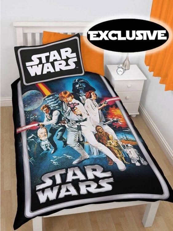 Parure Copripiumino Singola reversibile Star Wars Poster