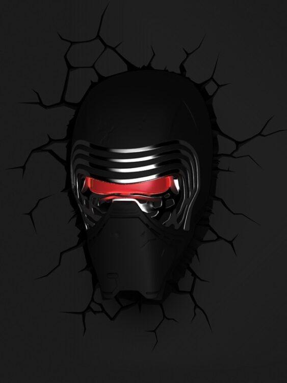 Luce da parete 3D a LED Star Wars Kylo Ren