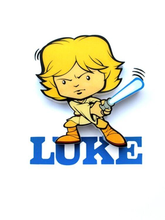 Mini-Luce da parete 3D a LED Star Wars Luke