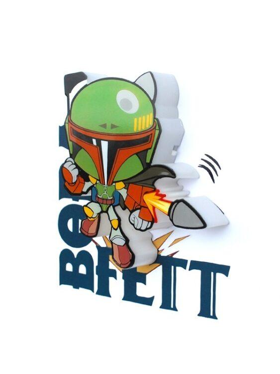 Mini-Luce da parete 3D a LED Star Wars Boba Fett