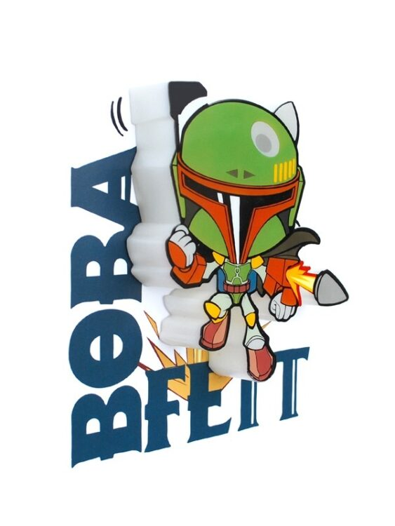 Mini-Luce da parete 3D a LED Star Wars Boba Fett