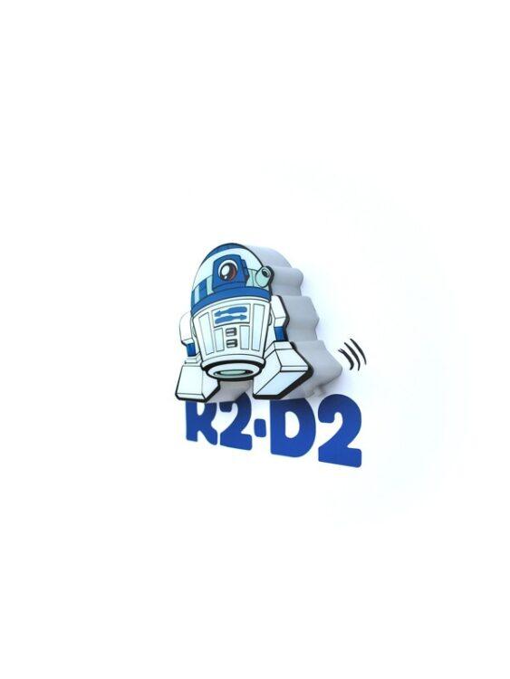 Mini-Luce da parete 3D a LED Star Wars R2-D2