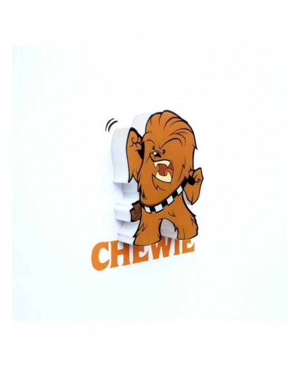 Mini uce da parete 3D a LED Chewbecca Star Wars