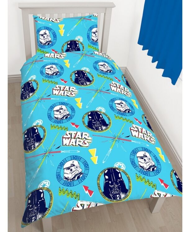 """Star Wars - Parure Copripiumino singolo """"May the force be with you"""""""