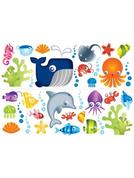 Adesivi da parete Under The Sea 35 pezzi