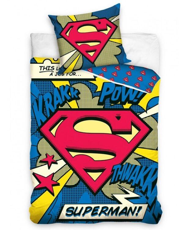 Parure copripiumino letto singolo Superman 100% cotone