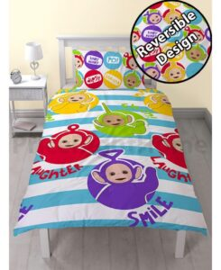 Parure copripiumino letto singolo Teletubbies double-face