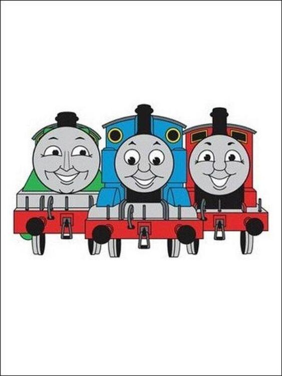 Decorazioni adesive in schiuma Trenino Thomas