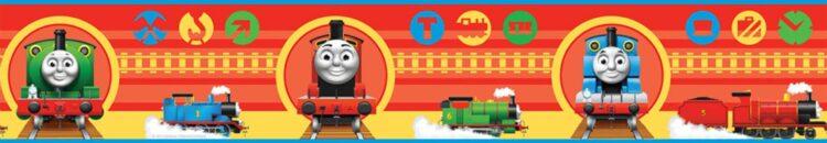 Bordo adesivo Trenino Thomas Locomotiva 5mt