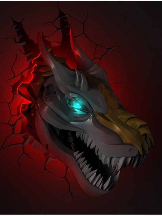 Luce da parete 3D a LED Transformers Grimlock