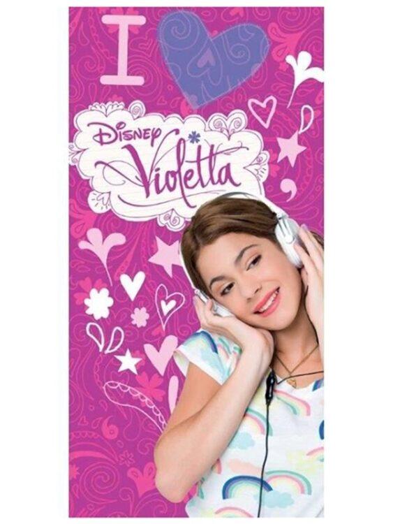 """Asciugamano Telo Mare Violetta Disney """"Heart"""""""