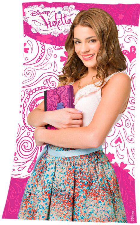 Asciugamano Telo Mare Violetta Disney Book
