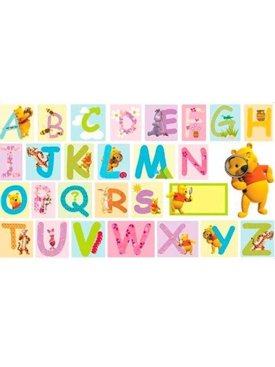 "Adesivi da parete ""alfabeto"" Winnie The Pooh"