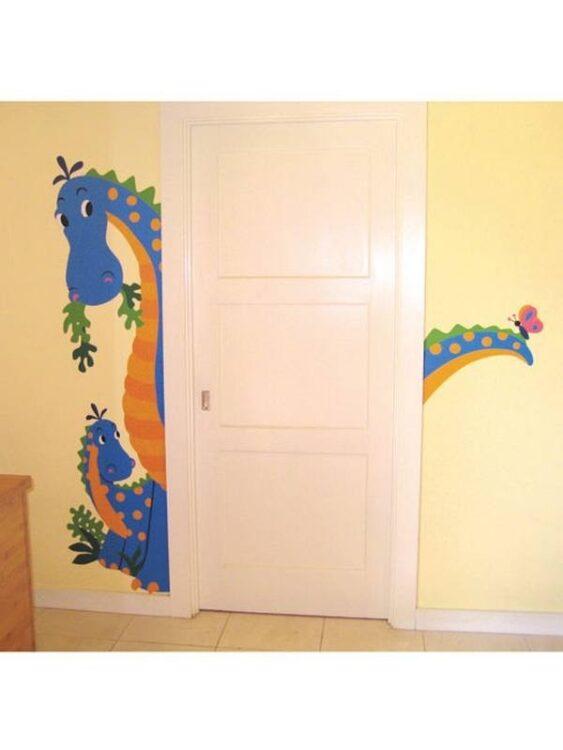 Murales Sbircia il Dinosauro
