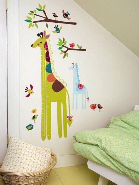 Metro Adesivo da parete Giraffa