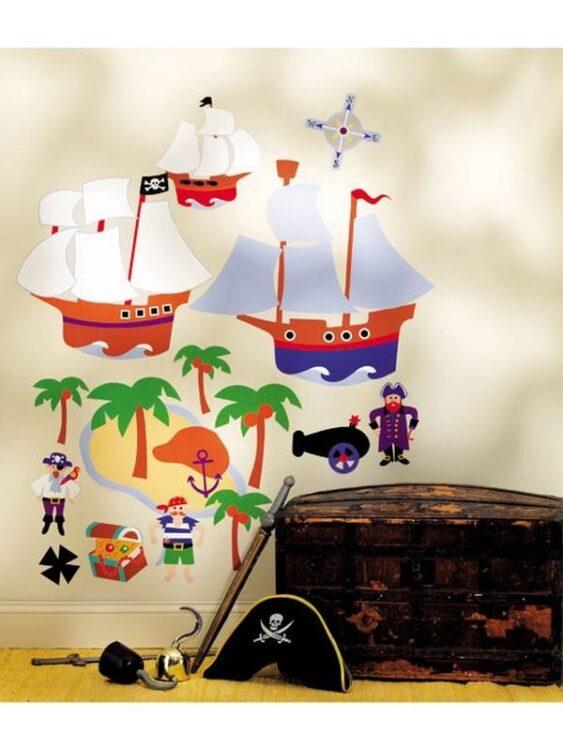 Decorazioni murali Nave dei Pirati