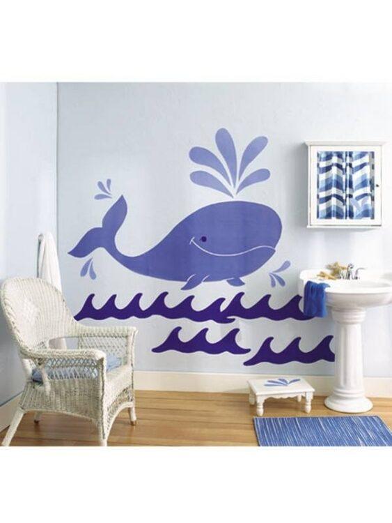 Decorazioni murali Balena e Onde