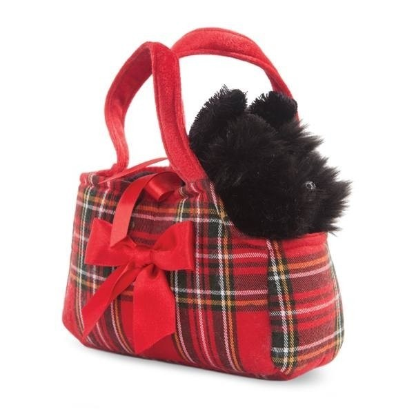 Peluche Scottie in borsetta