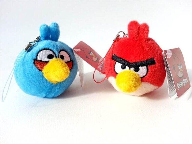 Peluche con laccetto Angry Birds 6cm