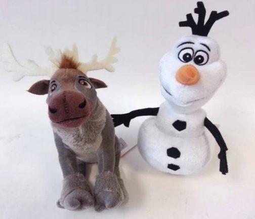 Coppia di peluche Disney Frozen Sven e Olaf 20cm