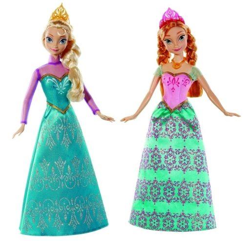 Set 2 bambole Anna e Elsa Frozen