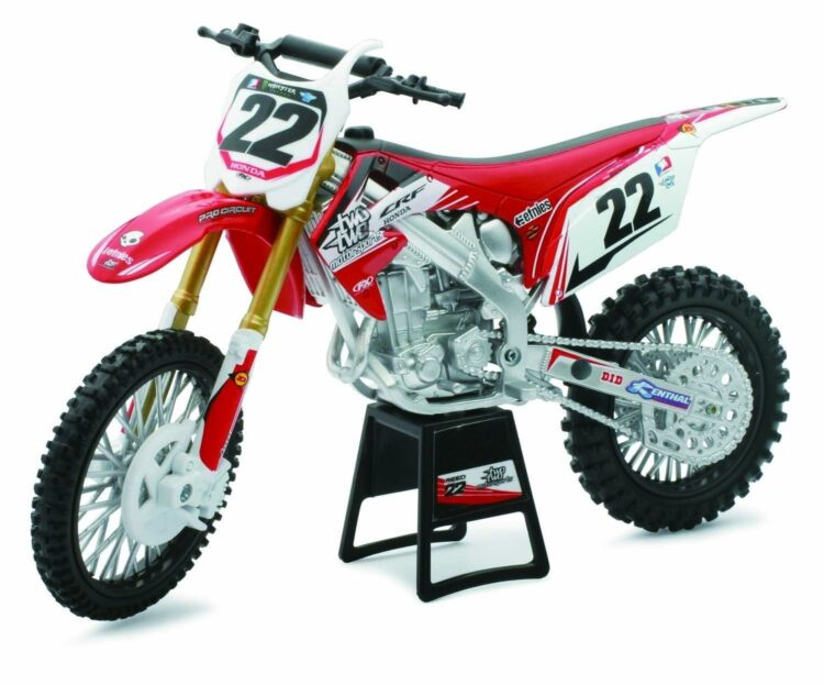 Newray - Racing Dirt Luxury Bike Honda CRF450R Two Two, Scala 1:12, Die Cast