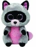 Raccoon rosa / grigio, grande 24 centimetri