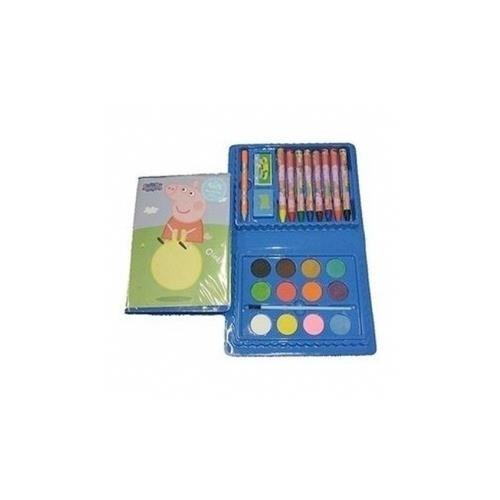 Set Colori Peppa Pig - 24 pezzi - Colori a cera + Acquerello