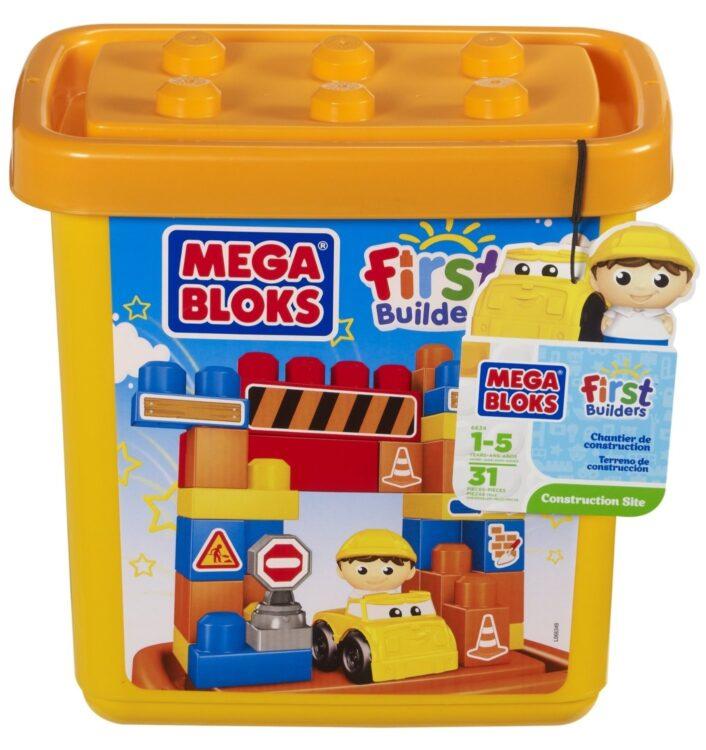 Mega Bloks 6634 - Secchiello a Tema Set Cantiere, 31 Pezzi