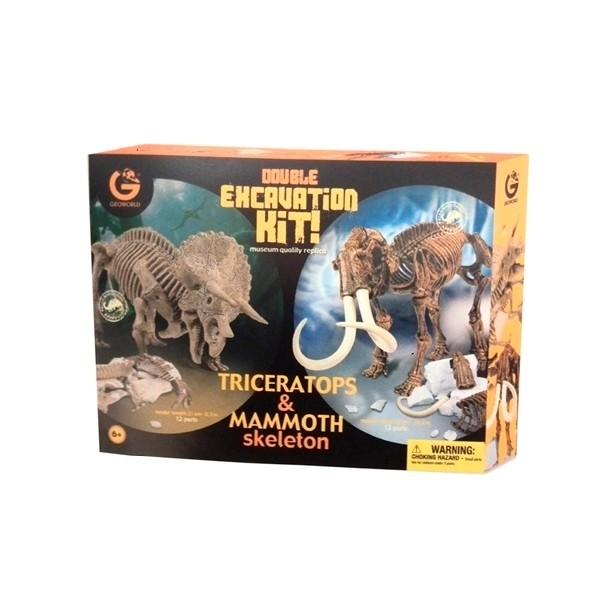Double Excavation Kit - Triceratopo e Mammut