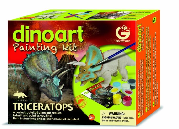 Geoworld - Dinoart Painting Kit Triceratops