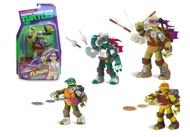 Ninja Turtles - Personaggio Deluxe Con Funzione Lancio