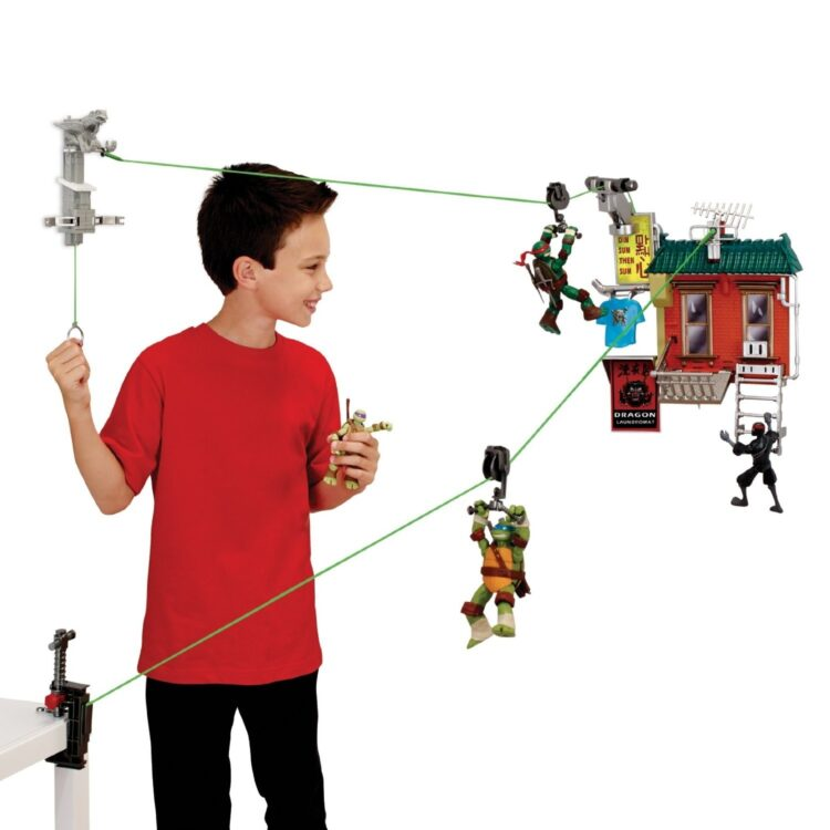 Teenage Mutant Ninja Turtles Z-Line Fire Escape Free Fall Playset