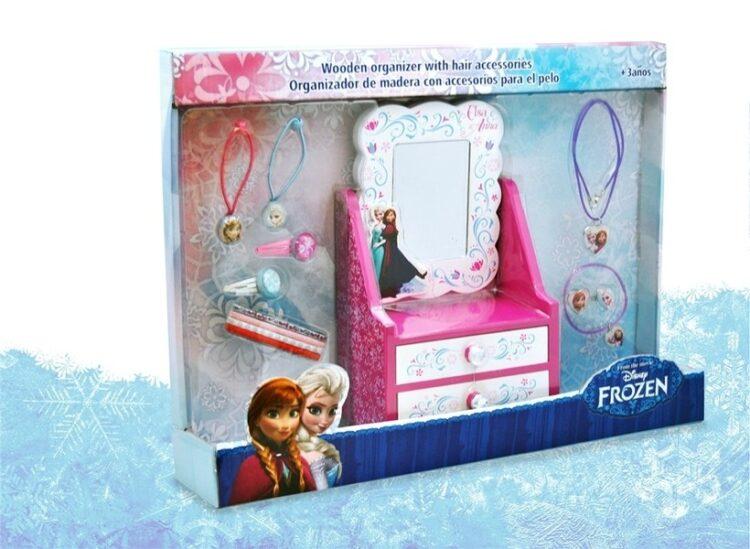 Frozen - Specchiera in legno con accessori per capelli e gioielli