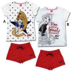 Completo T-shirt e shorts Winx
